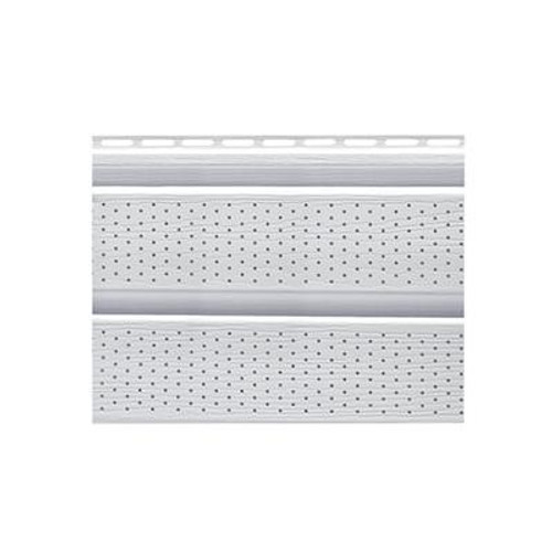 16 In. Perforated Soffit - White Carton