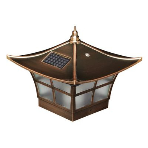4X4 Copper Plated Ambience Solar Post Cap