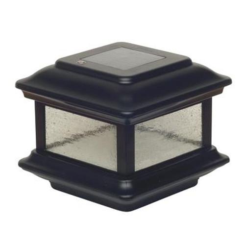 4X4 Black Aluminum Colonial Solar Post Cap