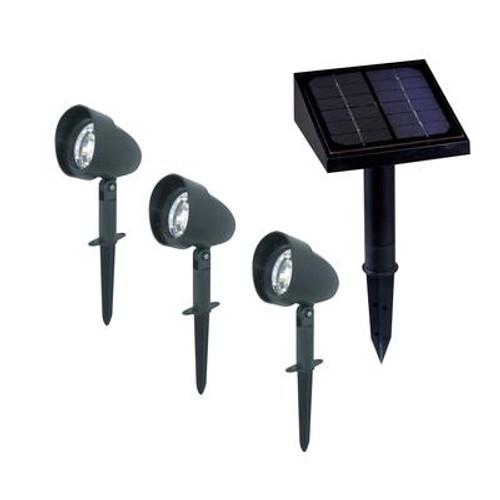 3-Pack Solar Landscape Spotlights