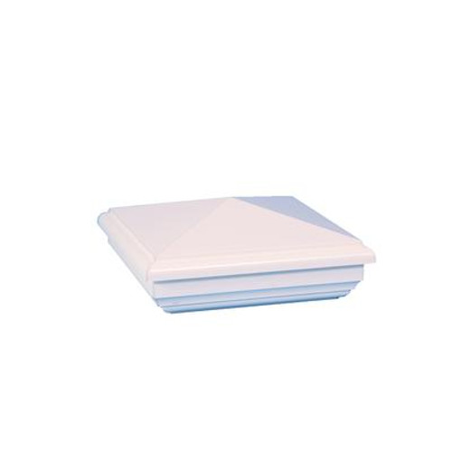 4X4 New England White Pvc Post Cap