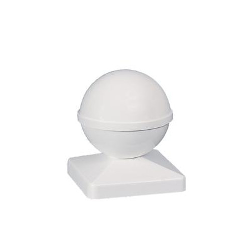4X4 Ball White Pvc Post Cap