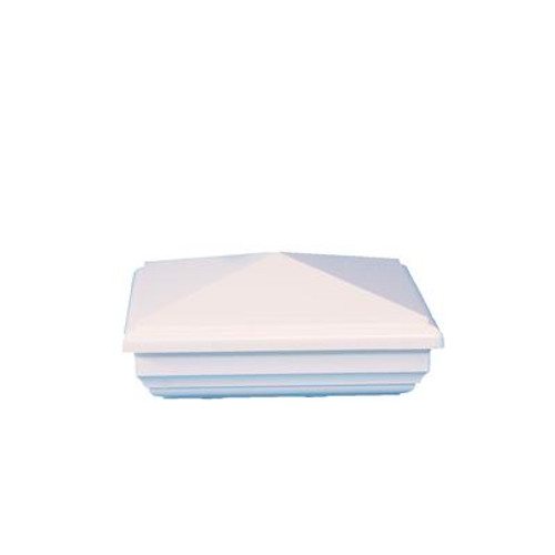 5X5 New England White Pvc Post Cap