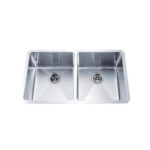 33 Inch Undermount 50/50 Double Bowl 16 gauge Stainless Steel Kitchen Sink