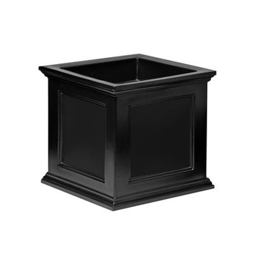 20 In. Square Farifield Patio Planter in Black