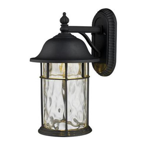 1-Light Outdoor Matte Black LED Wall Sconce