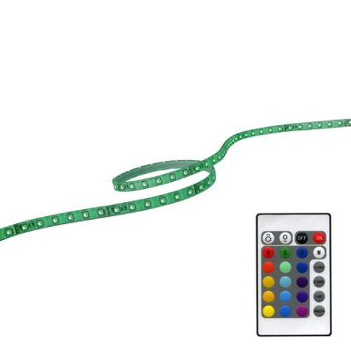 118 Inches (3M) RGB LED FlexTape With Plug In Dirver Remote And Controller