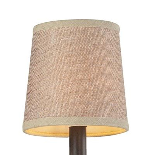 5 Inch Tan Textured Linen Shade