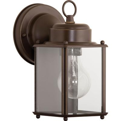 1 Light Antique Bronze Wall Lantern