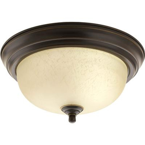 1 Light Antique Bronze Flushmount