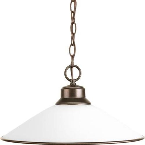 1 Light Antique Bronze Pendant