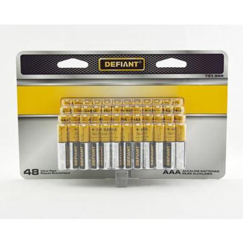 Defiant Alkaline AAA Battery 48PK