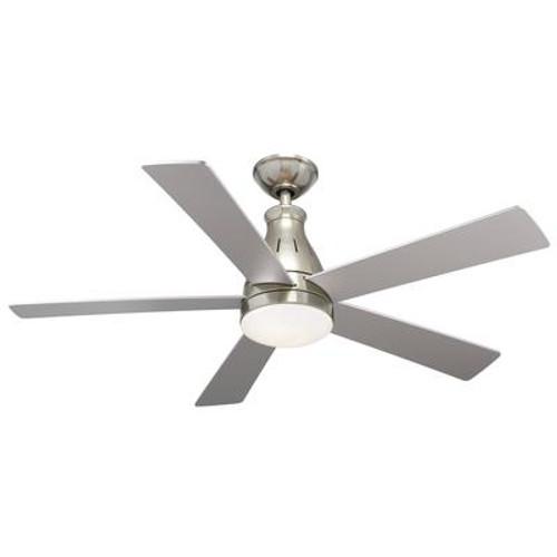 5 Blade 48 Inch  LED Downlight Nickel Ceiling Fan