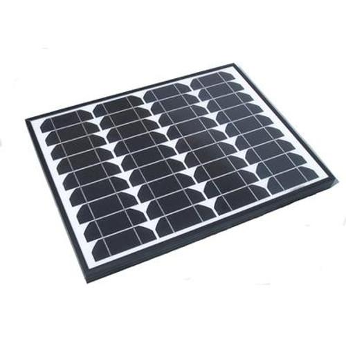 40-Watt Monocrystalline Solar Panel with Aluminum Frame for 12-Volt Charging
