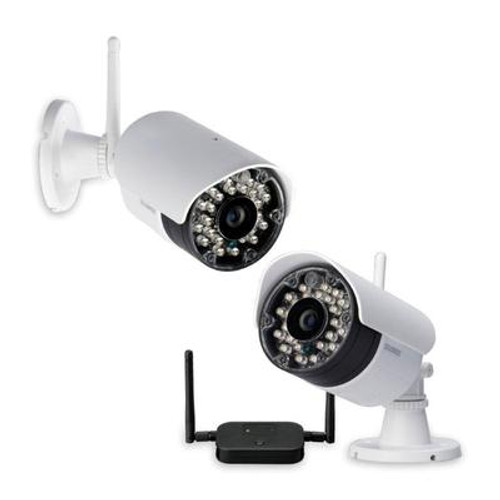 Vantage LW2232PK2B 2 Pack Wireless Security Surveillance Camera with 90FT Night Vision