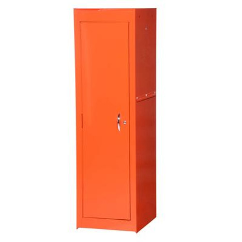 15 Inch Orange Two Shelf Full Length Side Locker