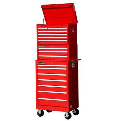 27 Inch 16 Drawer Red Combination Set