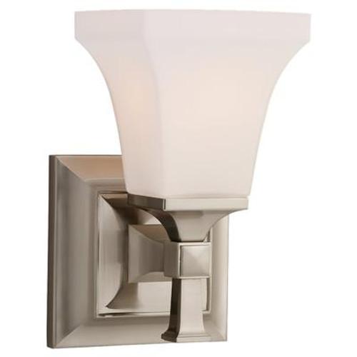 1 Light Brushed Nickel Incandescent Bathroom Vanity