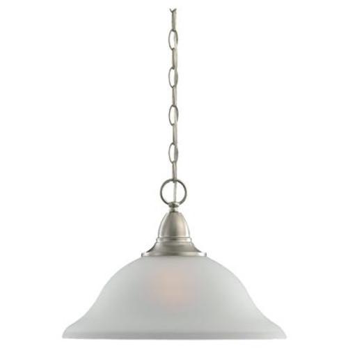 1 Light Brushed Nickel Incandescent Pendant