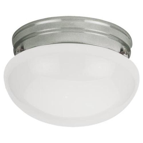 1 Light Brushed Nickel Incandescent Ceiling Fixture