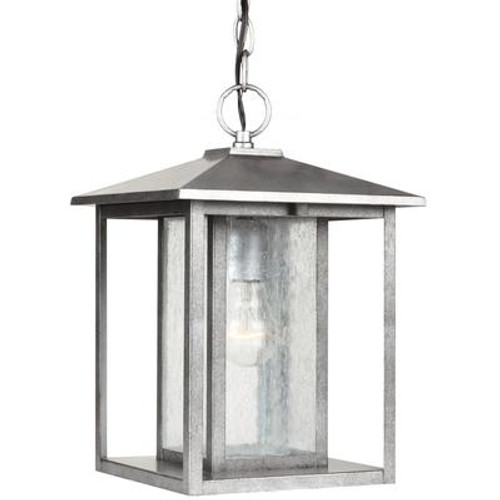 1 Light Weathered Pewter Incandescent Outdoor Pendant