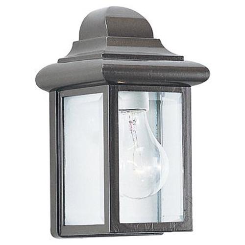 1 Light Bronze Incandescent Outdoor Wall Lantern