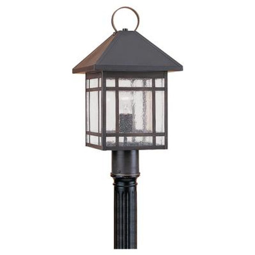 1 Light Antique Bronze Incandescent Outdoor Post Lantern