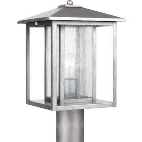 1 Light Weathered Pewter Incandescent Outdoor Post Lantern