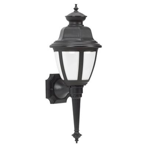 1 Light Black Fluorescent Outdoor Wall Lantern