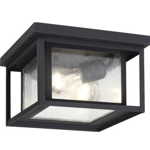 2 Light Black Incandescent Outdoor Flush Mount