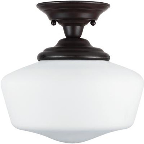 1 Light Heirloom Bronze Incandescent Semi-Flush