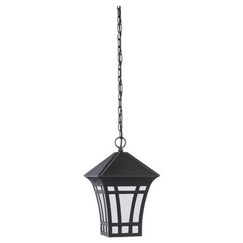 1 Light Black Fluorescent Outdoor Pendant