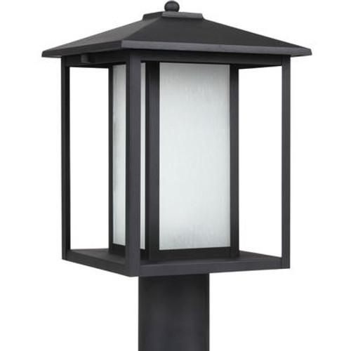 1 Light Black Fluorescent Outdoor Post Lantern