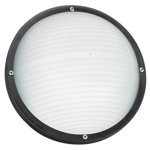 1 Light Black Incandescent Outdoor Wall Or Ceiling Fixture