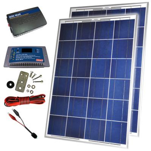 200 Watt 12 Volt Solar Backup Kit