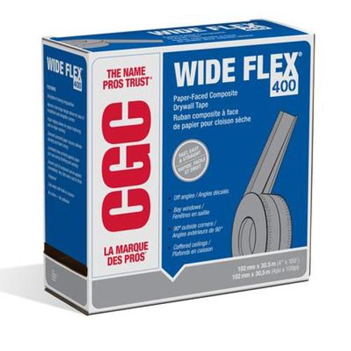 CGC Strait-Flex Wide-Flex 400 WF-100C Drywall Corner Tape 4 Inch x 100 Feet Roll