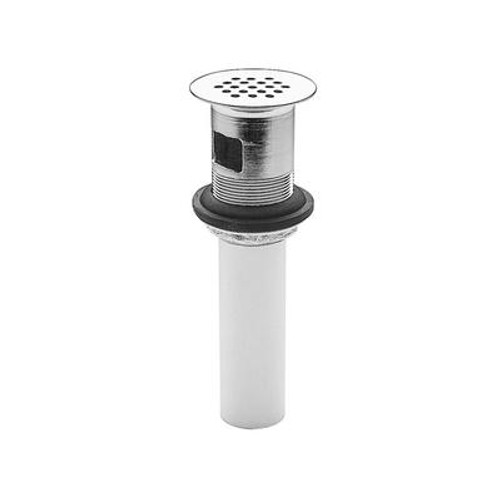 All Metal Grid Strainer w/Overflow in Polished Chrome
