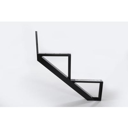 2-Steps Black Aluminium Stair Riser Includes one ( 1 ) riser only