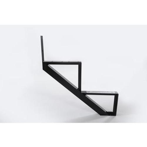 2-Steps Black Aluminium Stair Riser Includes one ( 1 ) riser only