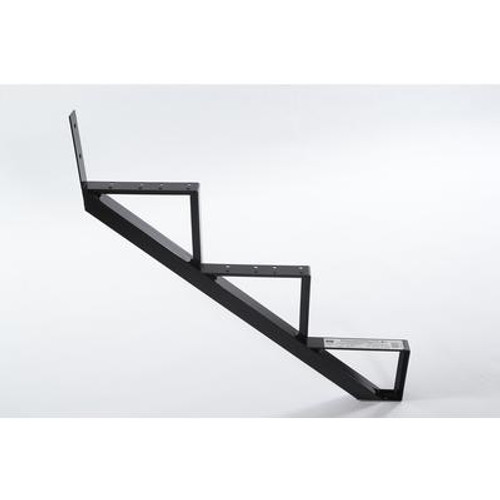 3-Steps Black Aluminium Stair Riser Includes one ( 1 ) riser only
