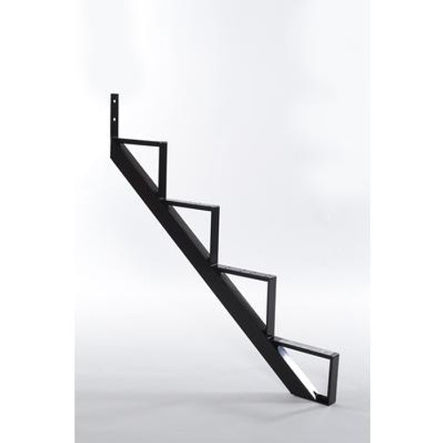 4-Steps Black Aluminium Stair Riser Includes one ( 1 ) riser only