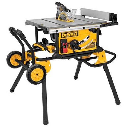 10 Inch Jobsite Table Saw 32-1/2 Inch Rip Capacity and a Rolling Stand
