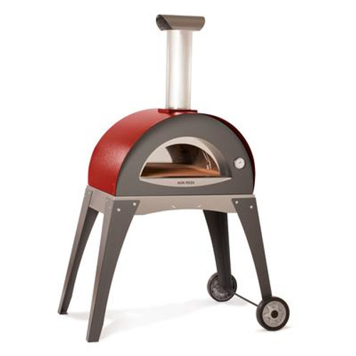 Forno Ciao Outdoor Wood Burning Pizza Oven including cart. Pre-assembled (cart requires assembly)