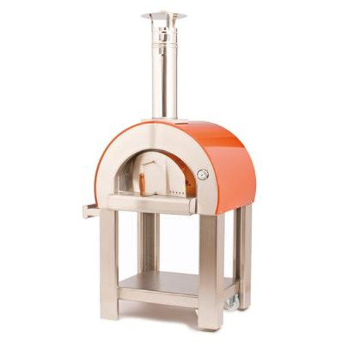 Forno 5 Outdoor Wood Burning Pizza Oven including cart. Pre-assembled (cart requires assembly)