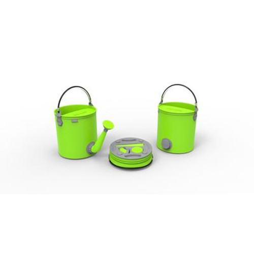 Colourwave Colpaz - Collapsible 2 in 1 can + bucket Lime green