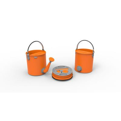 Colourwave Colpaz -Collapsible 2 in 1 can + bucket Juicy orange