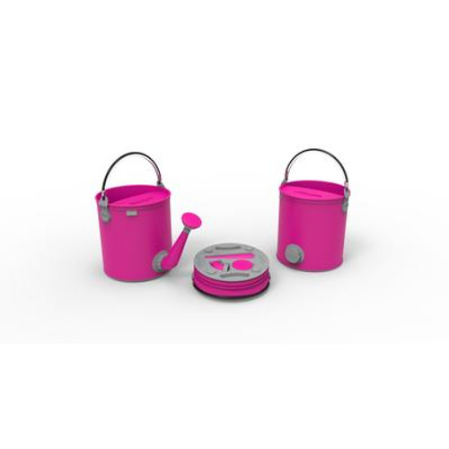 Colourwave Colpaz -Collapsible 2 in 1 can + bucket Candy pink