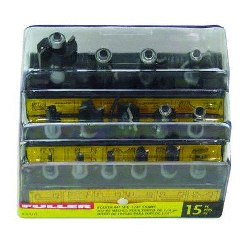 15 PC Router Bit Set