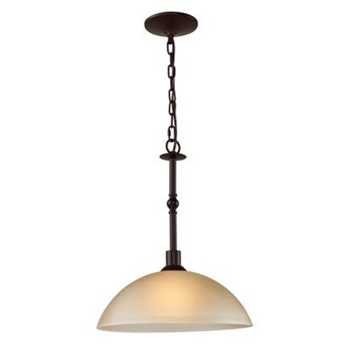 1 Light Pendant In Oil Rubbed Bronze With Led Option