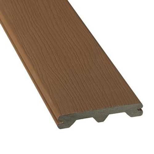 12 feet  - HP Capped Grooved Composite Decking - Walnut